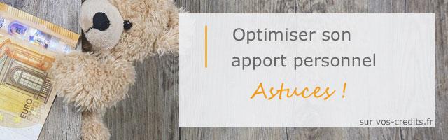 Optimiser apport personnel